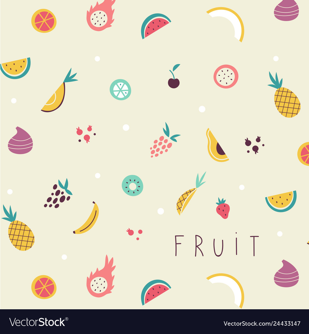 Small fruit and vegetables icons pattern