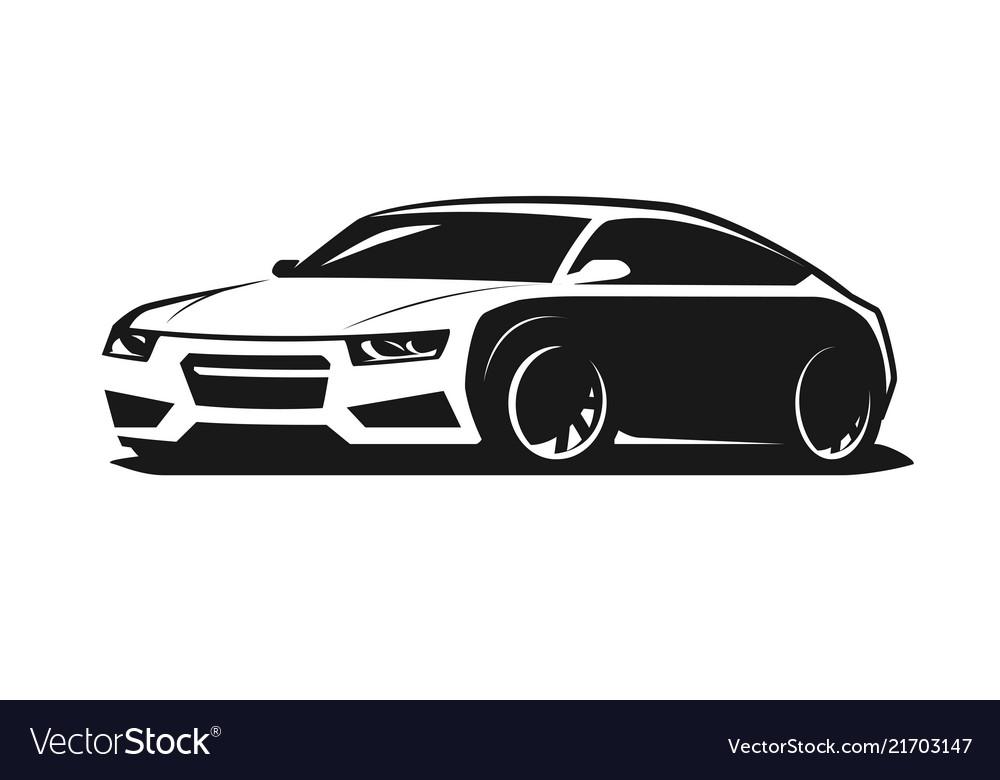 Sport car logo or icon rally garage symbol
