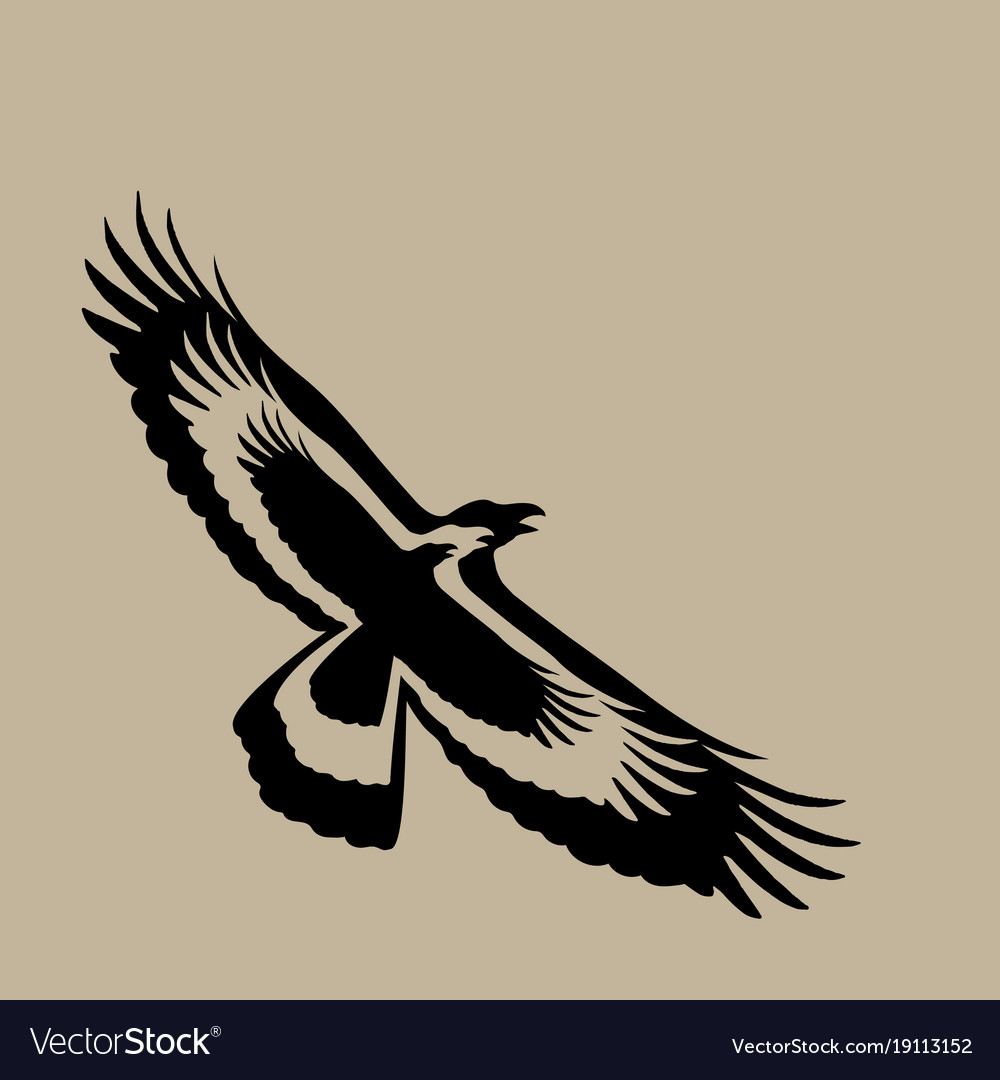 Eagle design on brown background wild animals