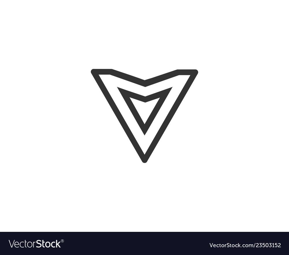 Letter v logo alphabet icon set