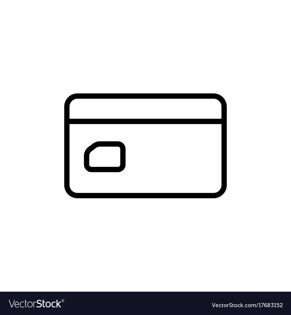 Line credit card icon on white background