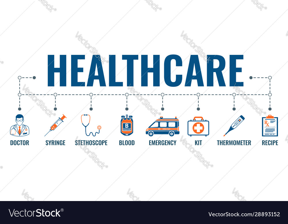 Medicine And Healthcare Banner Royalty Free Vector Image