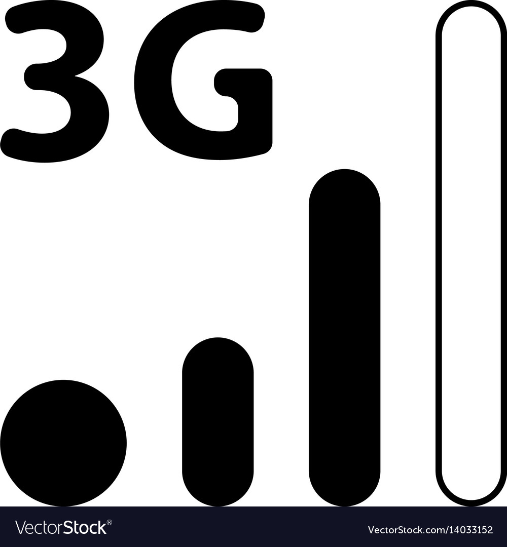 Mobile smart phone 3g network icon vector image