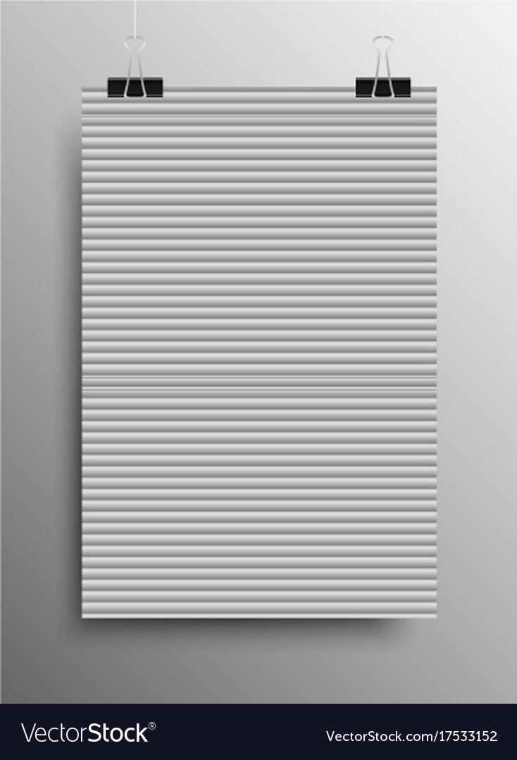 Pattern paper horizontal lines grey galousie