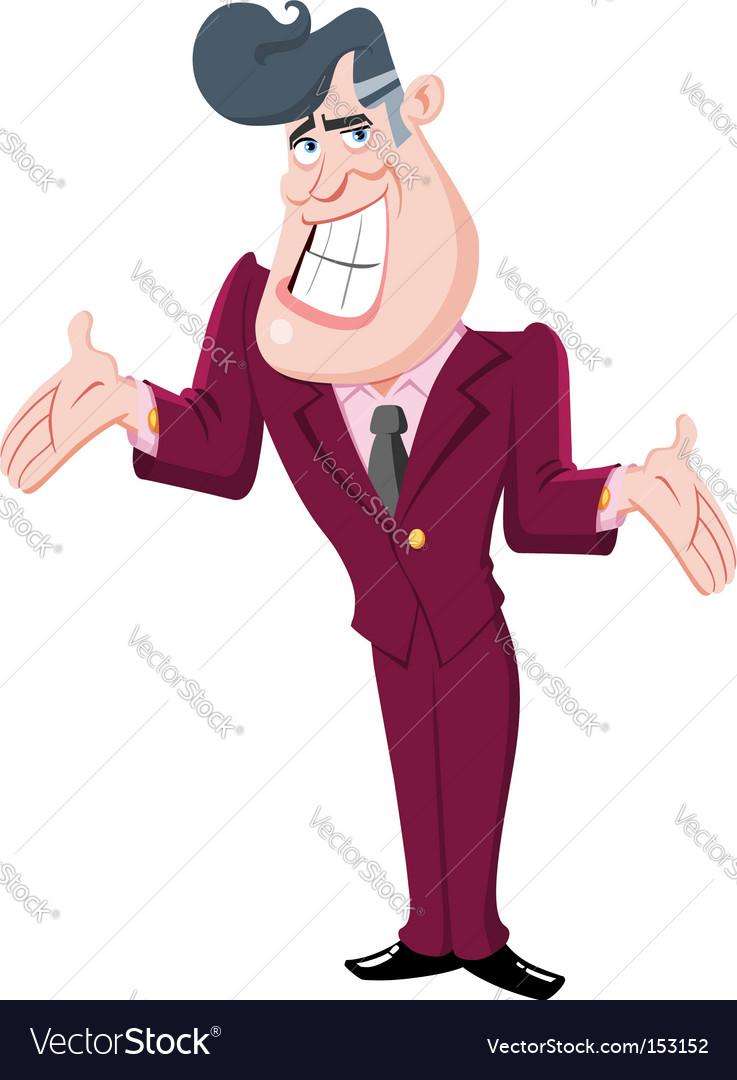 Presenter man vector image