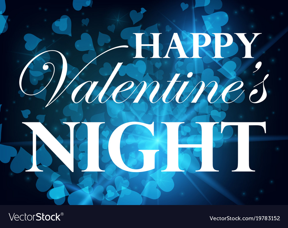 Valentine day party design card banner with bokeh vector image