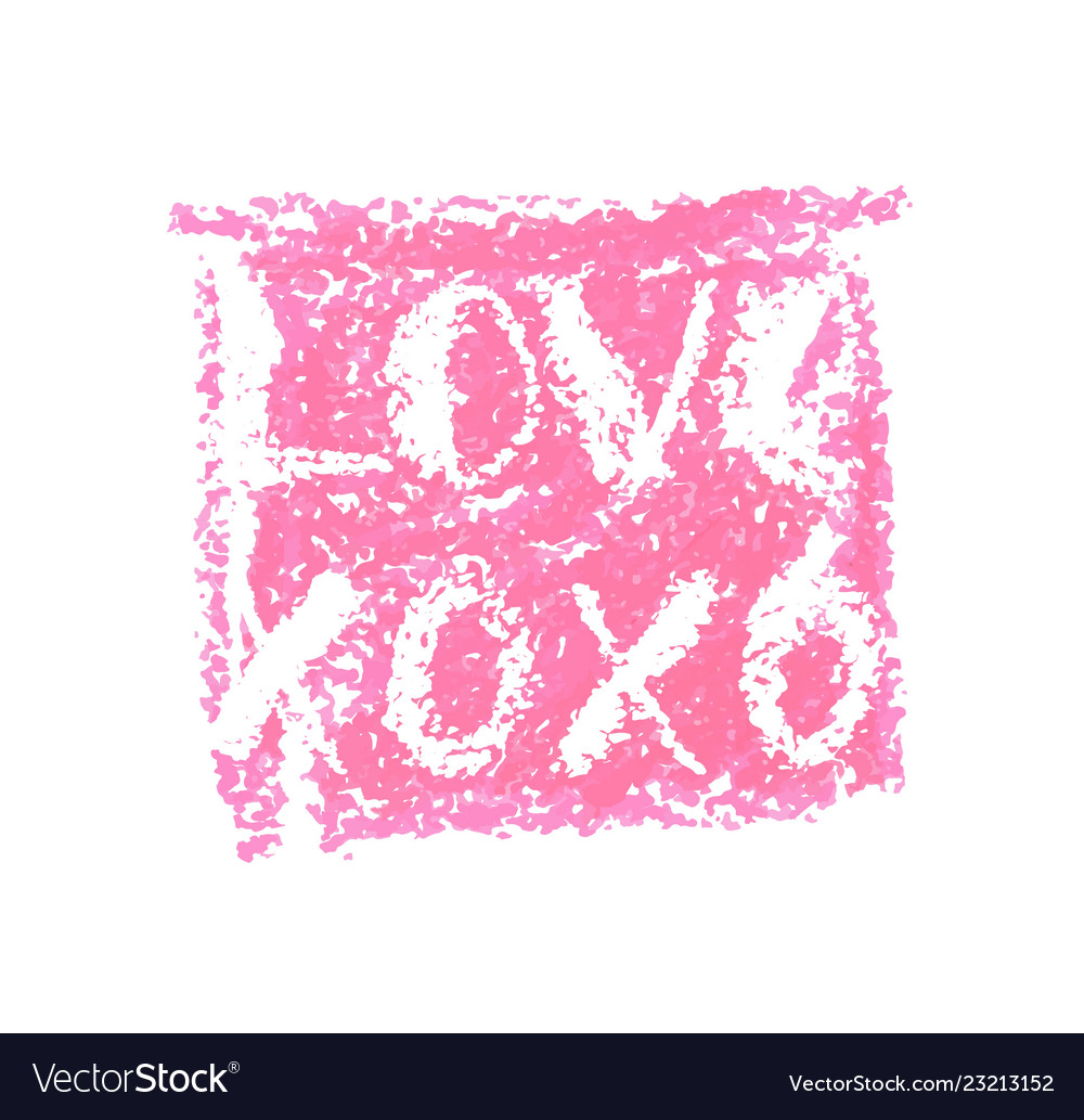 Xoxo And Love Lettering For Valentines Day Vector Image