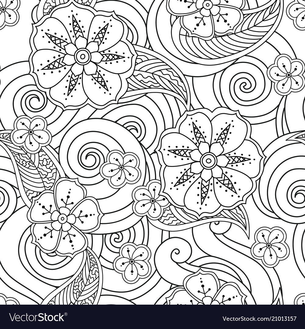 Abstract hand drawn outline stylized ornament