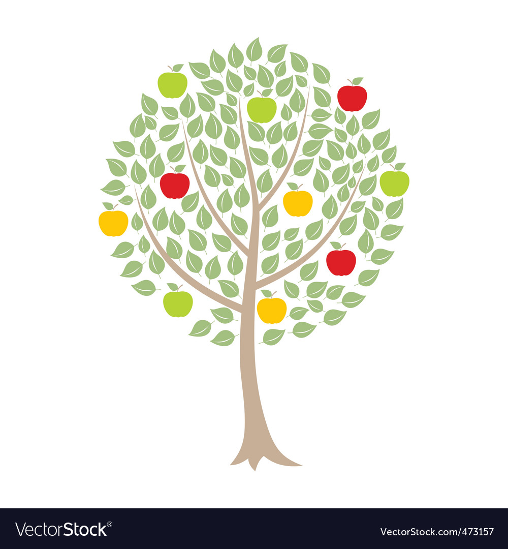 apple tree royalty free vector image vectorstock clipart designs free clipart design mini pack