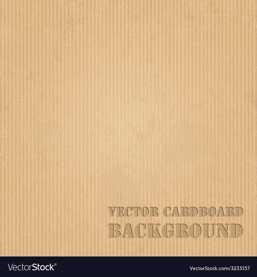 Cardboard grunge paper texture background vector image