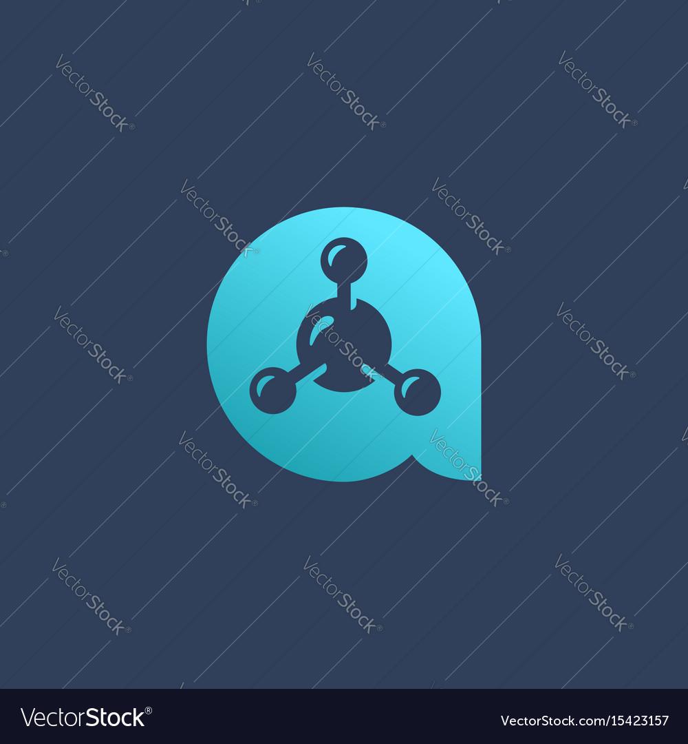 Letter a molecule logo icon design template