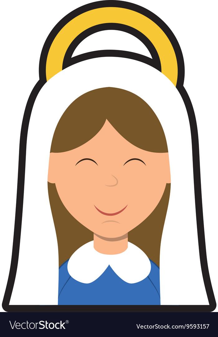 Maria icon Merry Christmas design graphic