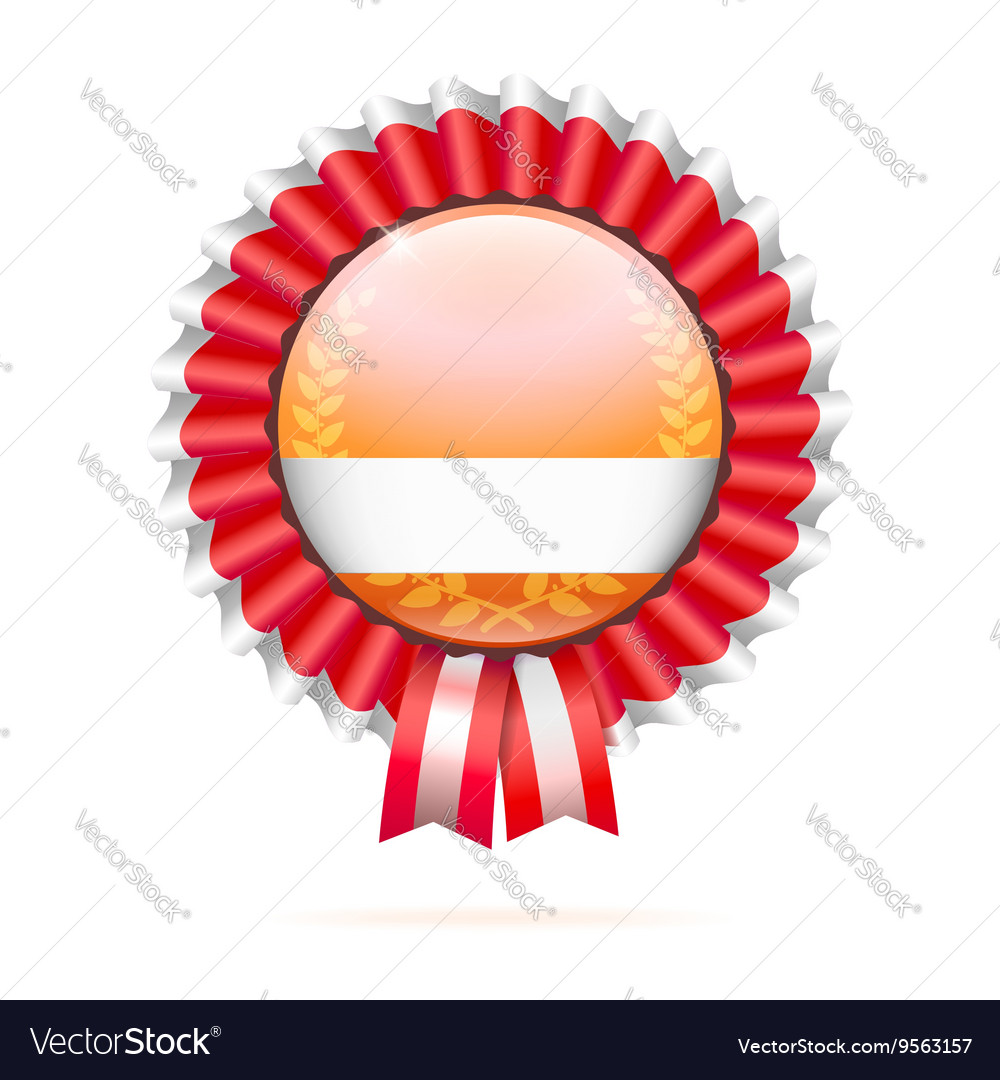 Modern badge with ribbon