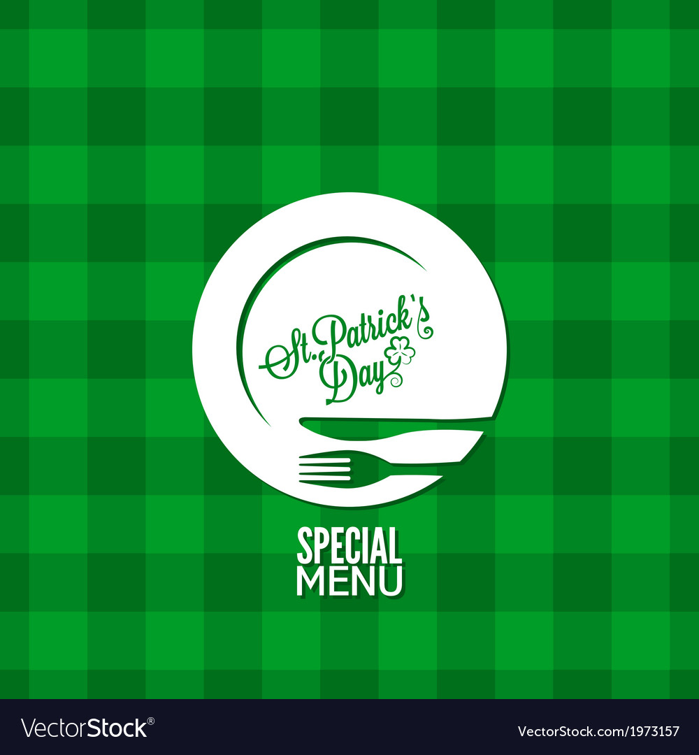 Patrick day party holiday menu design background