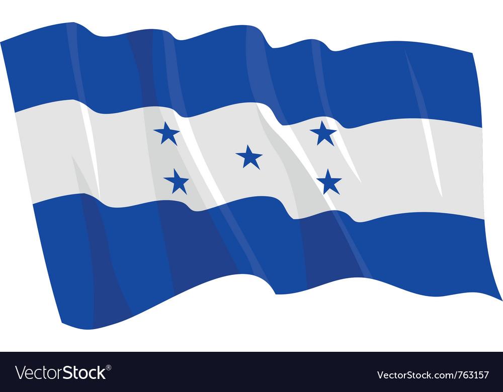 Political waving flag of honduras vector image