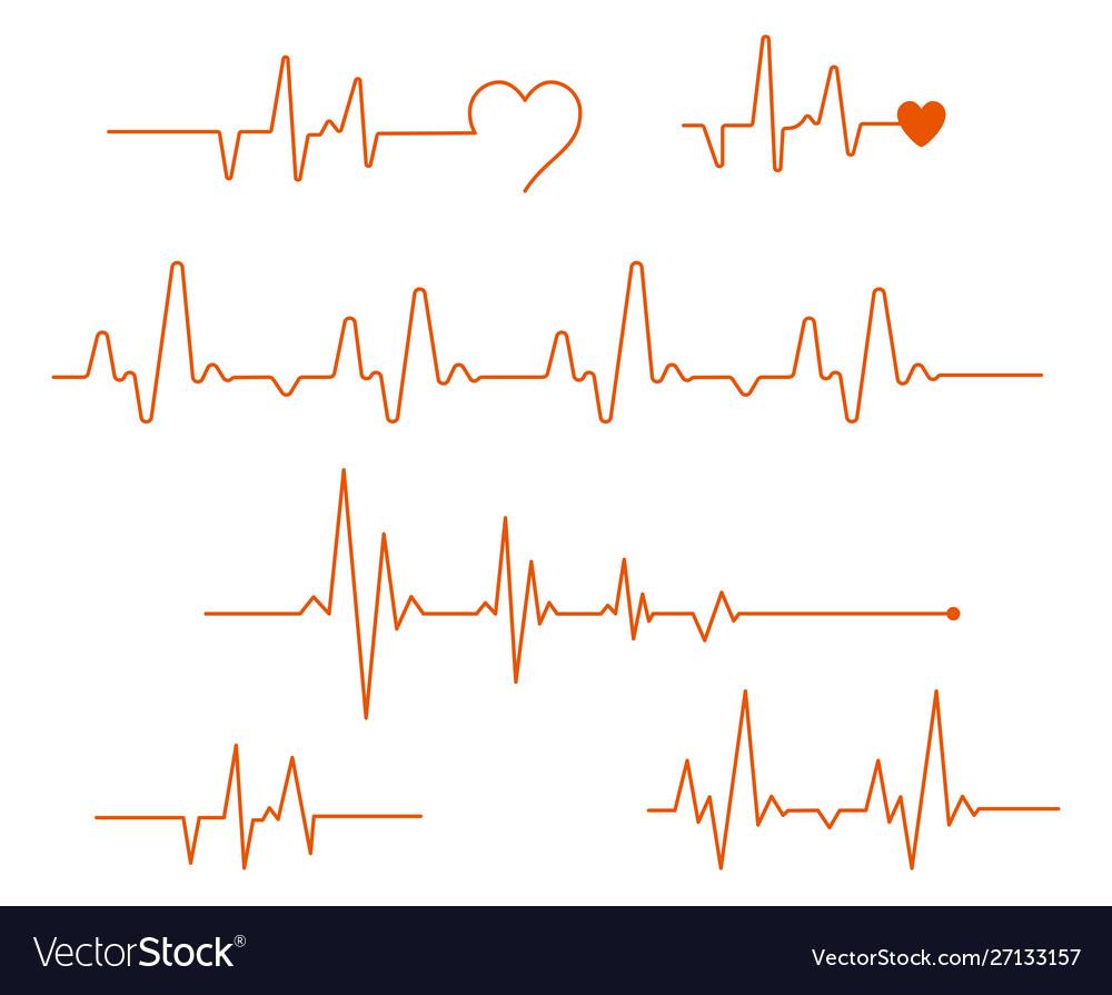 Pulse line medicine modern flat cardiogram