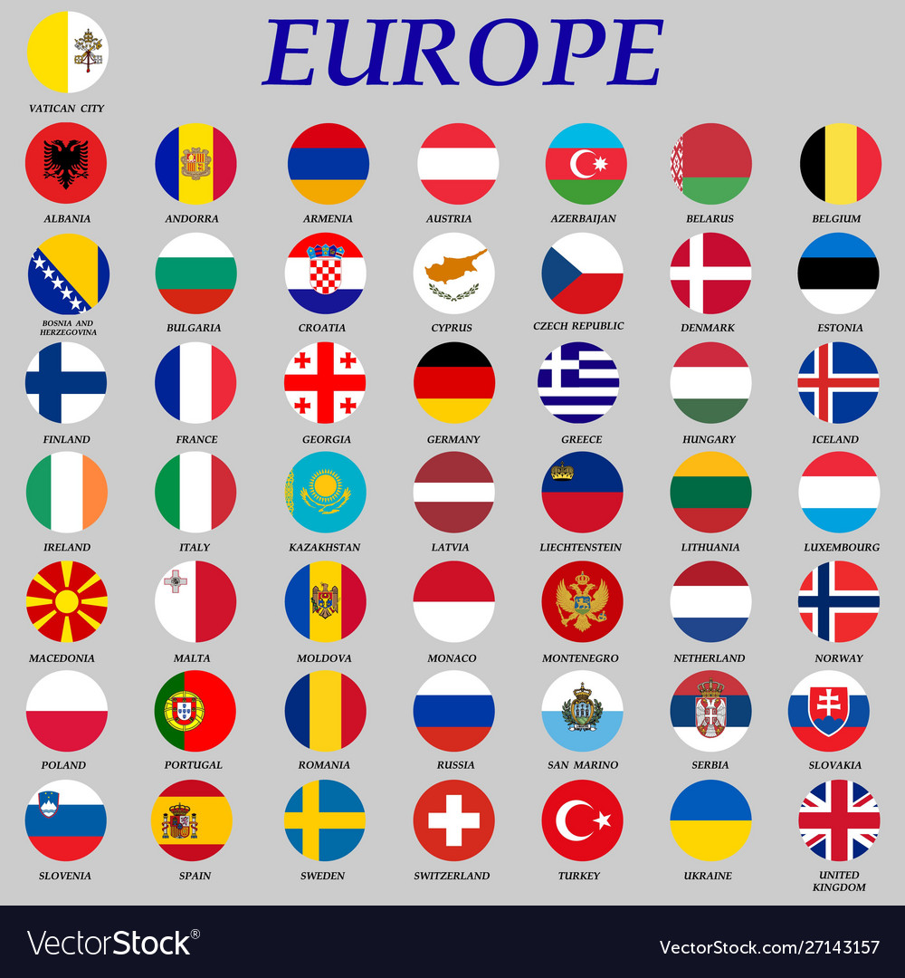 Round flags europe