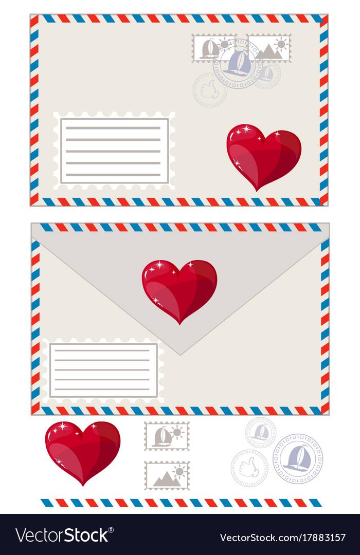 Valentine letter flat icon
