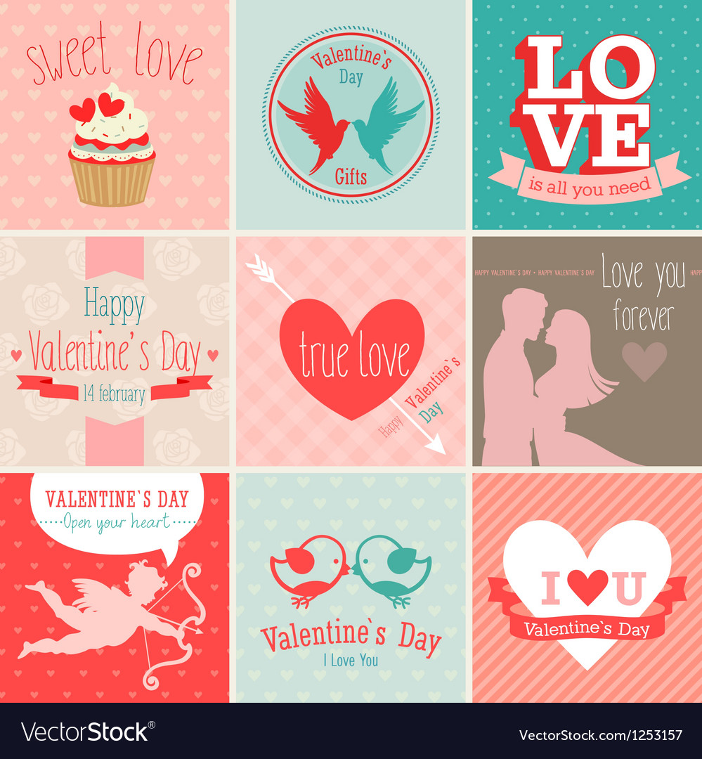 Valentines card set