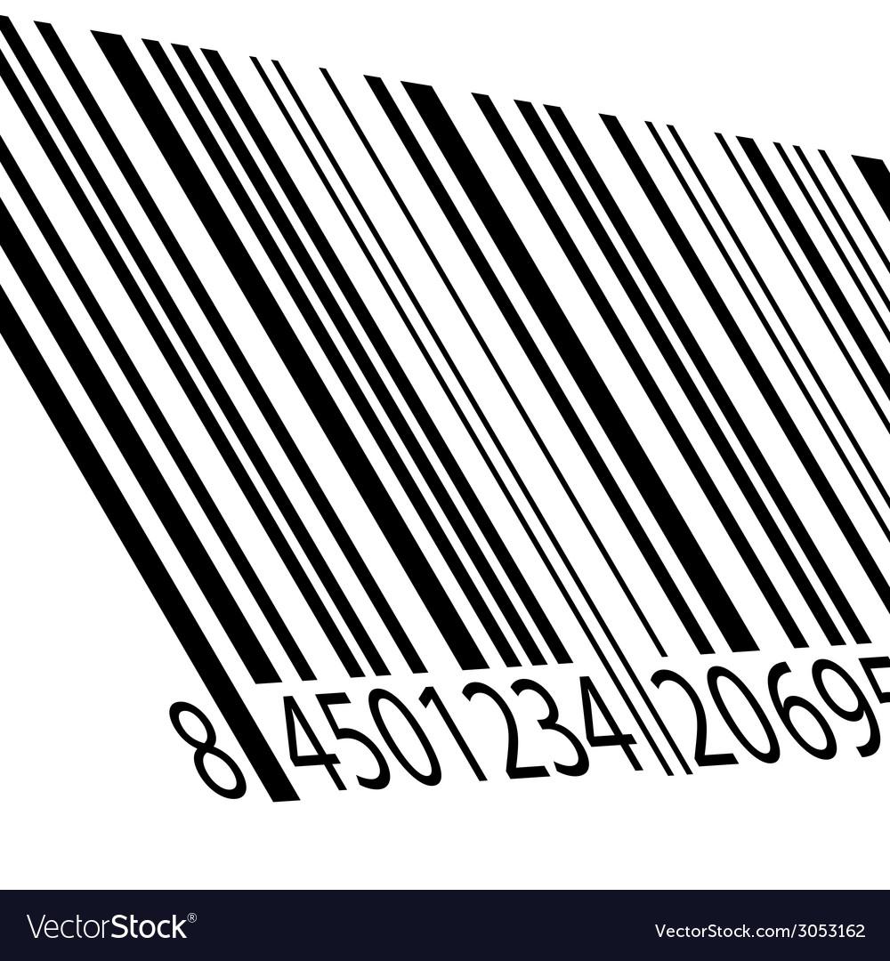 Bar code on a white