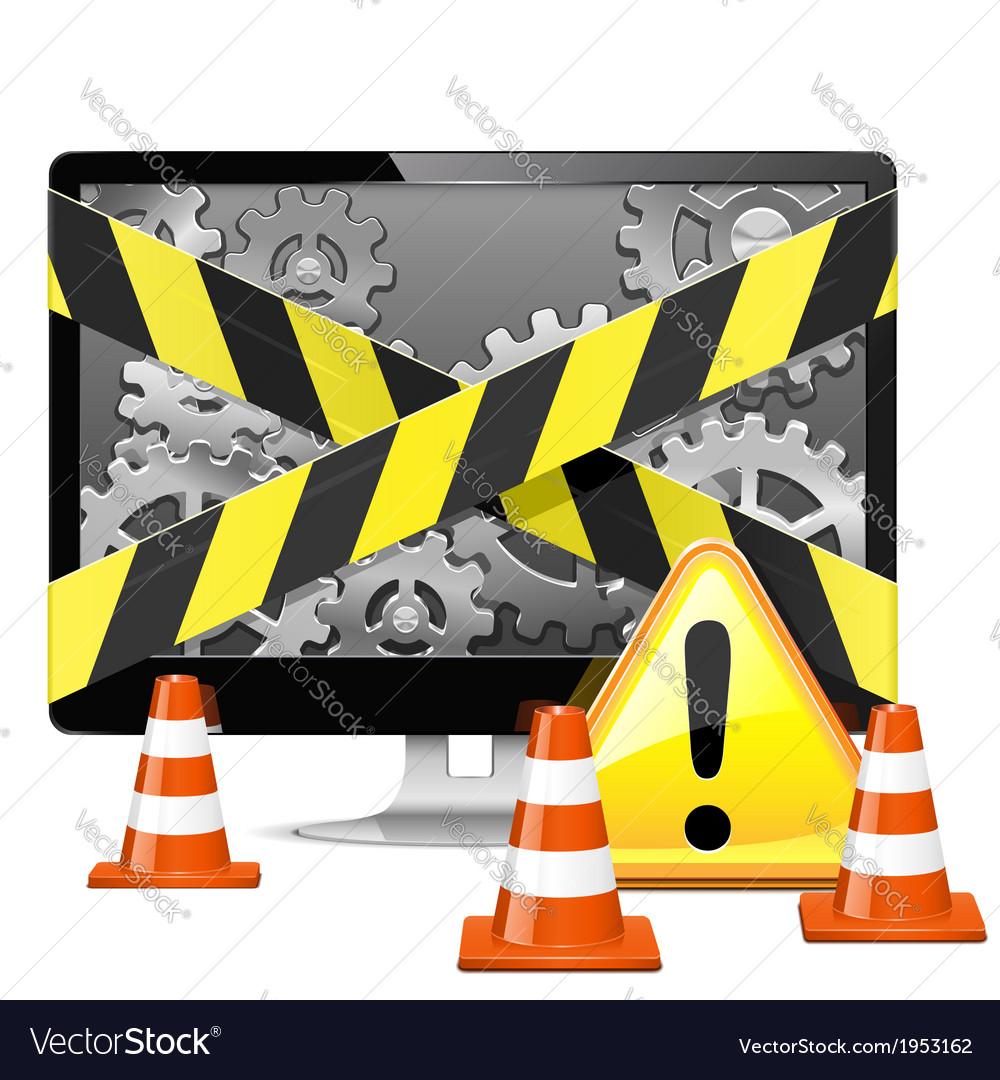 Computer Repair with Cones