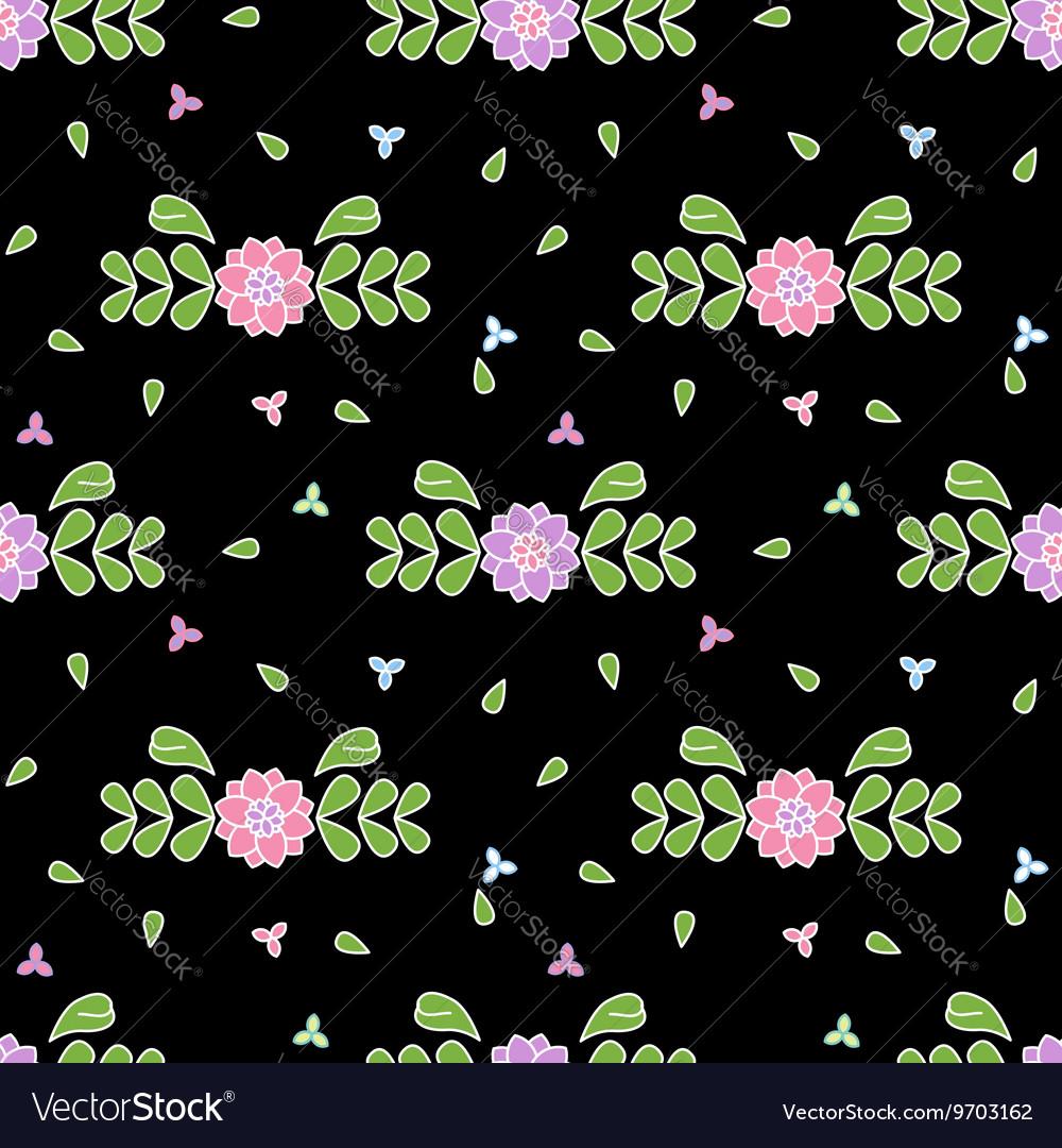 Cute flower floral seamless pattern