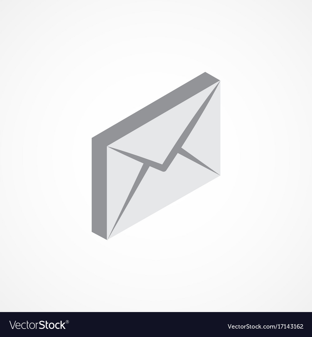 Email isometric icon 3d