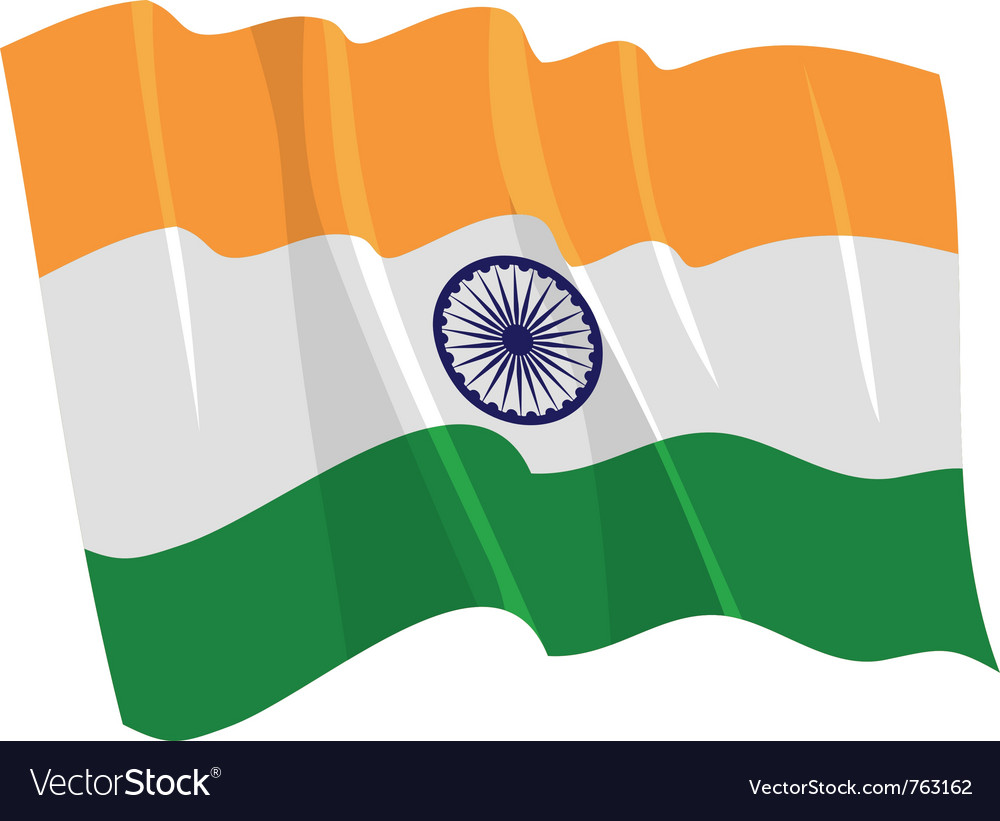 Political waving flag of india vector image