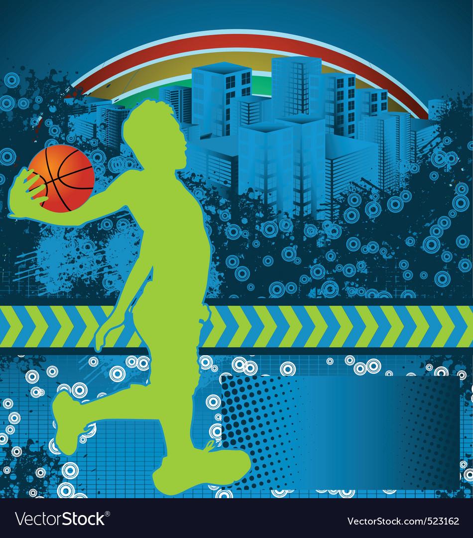Slamball grunge background vector image