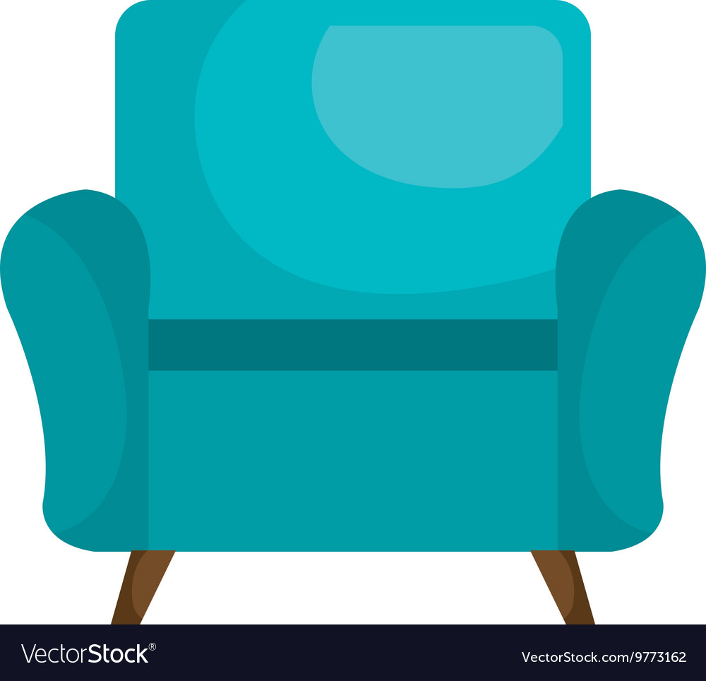Sofa chair furniture isolated flat icon