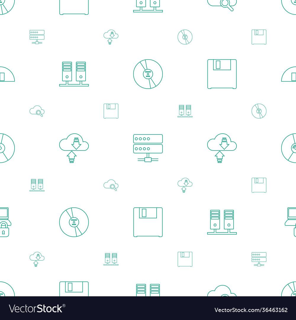 Storage icons pattern seamless white background