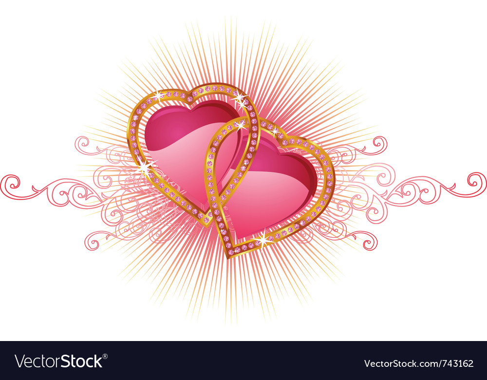 Description two love hearts valentine and wedding Expanded License Yes