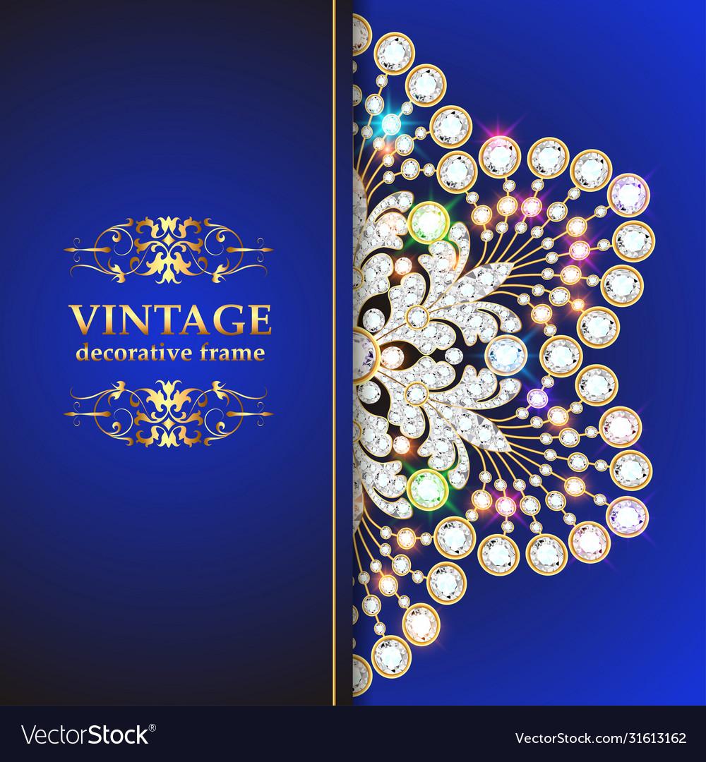 Vintage floral style brochure and flyer design