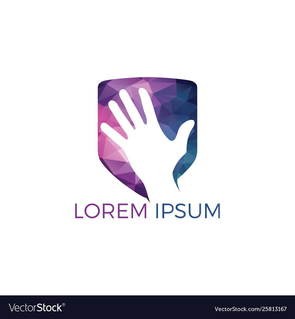 Abstract hand logo design