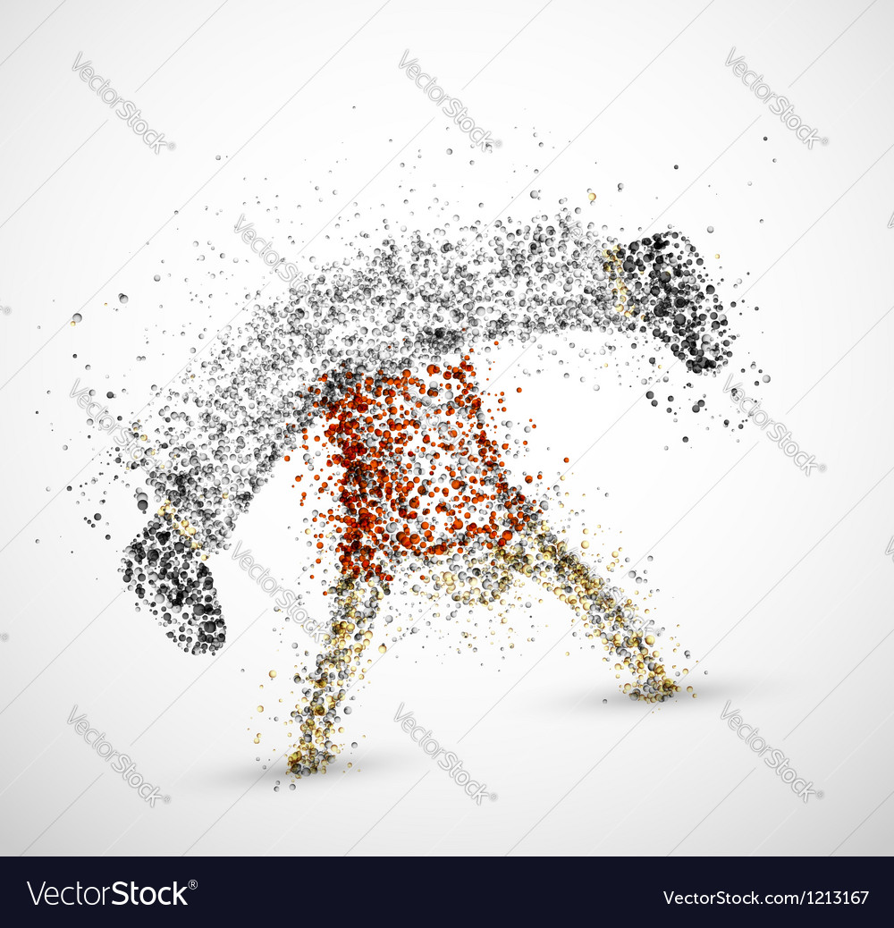 Abstract male vector image
