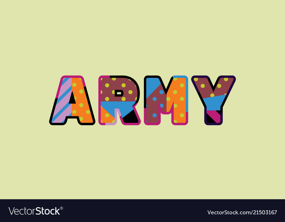 Army concept word art
