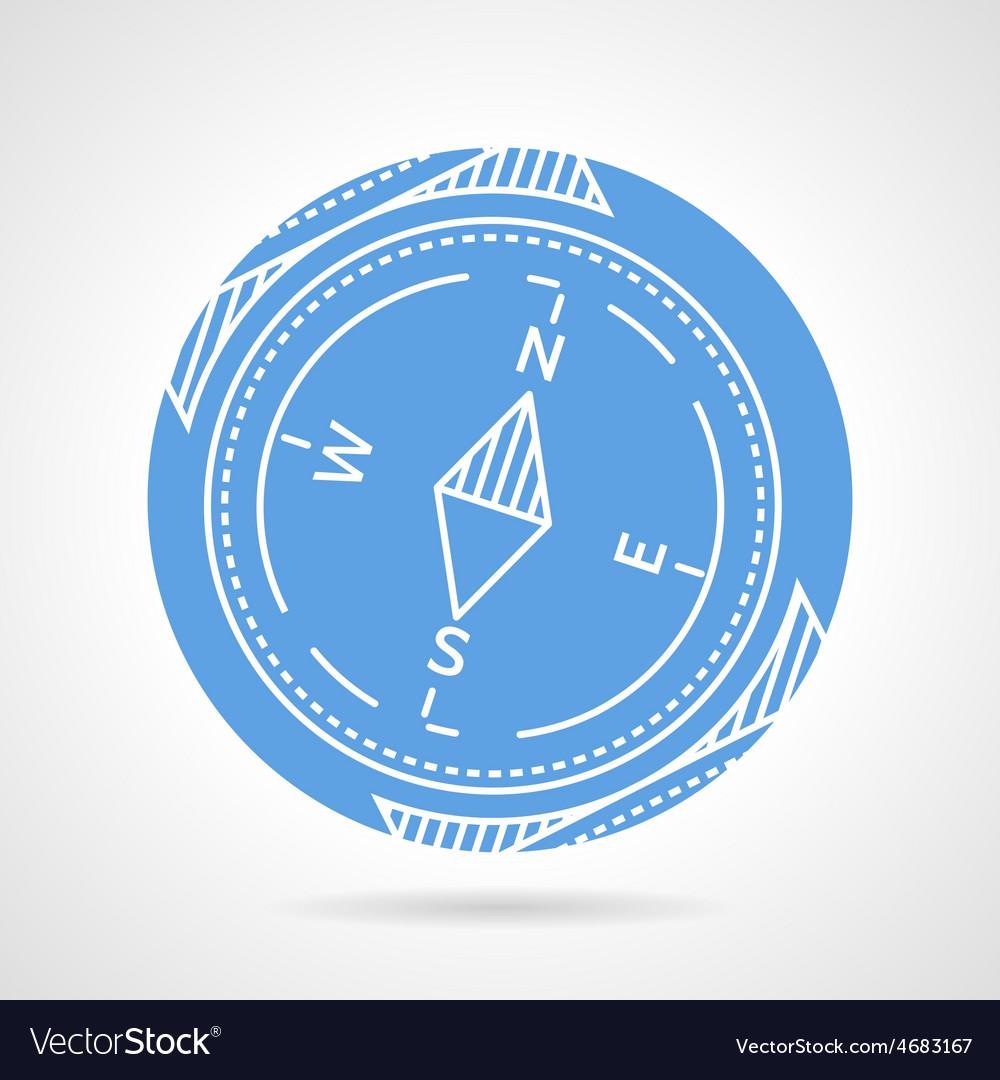 Compass blue icon