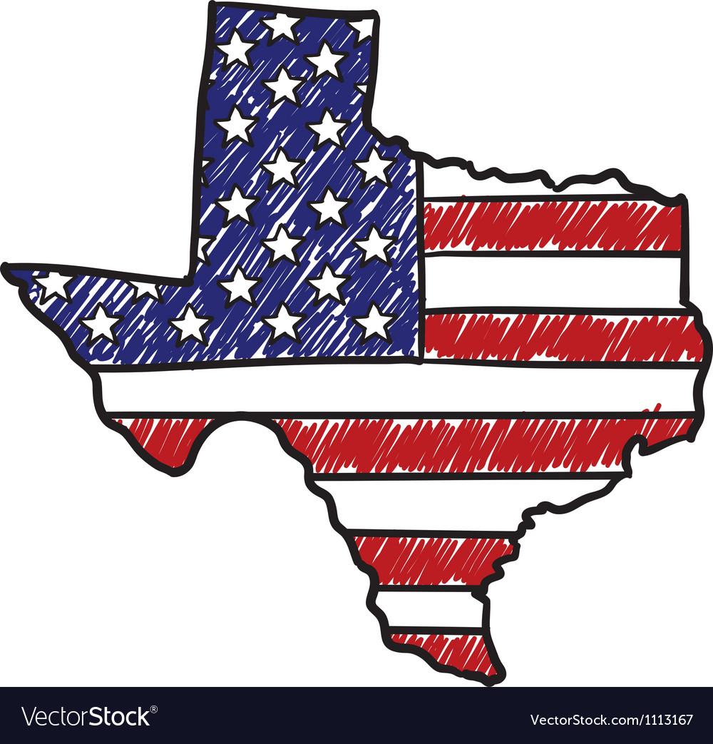 Doodle americana flag texas overlay
