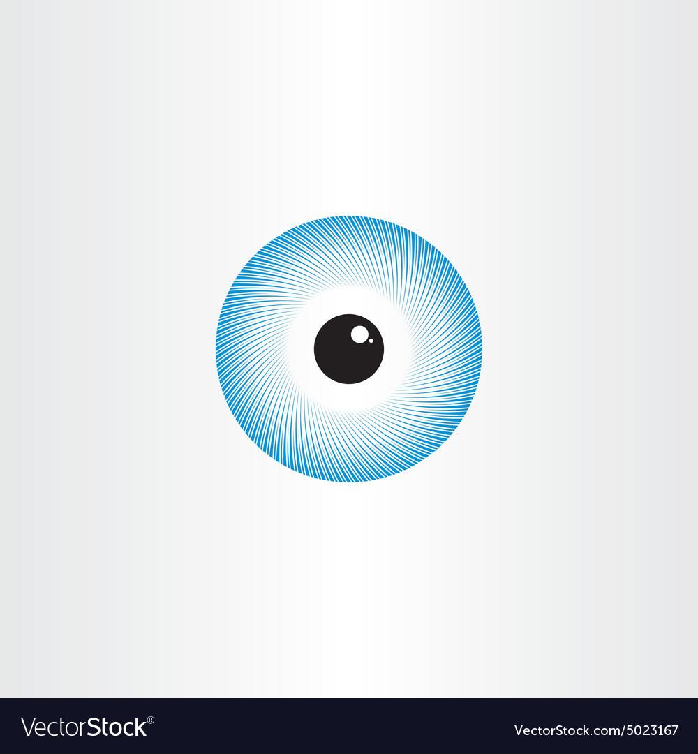 Human eye blue pupil symbol vector image