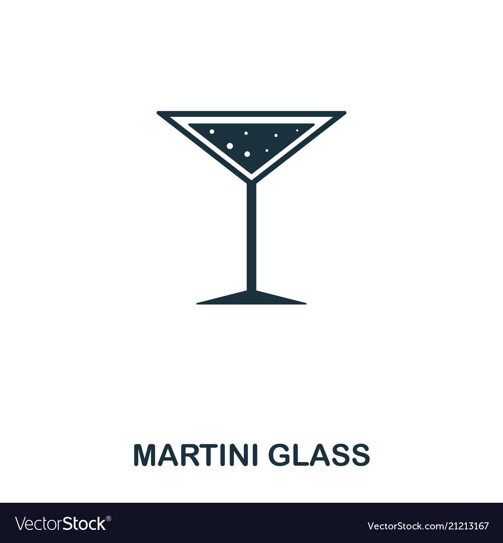 Martini glass icon line style icon design ui