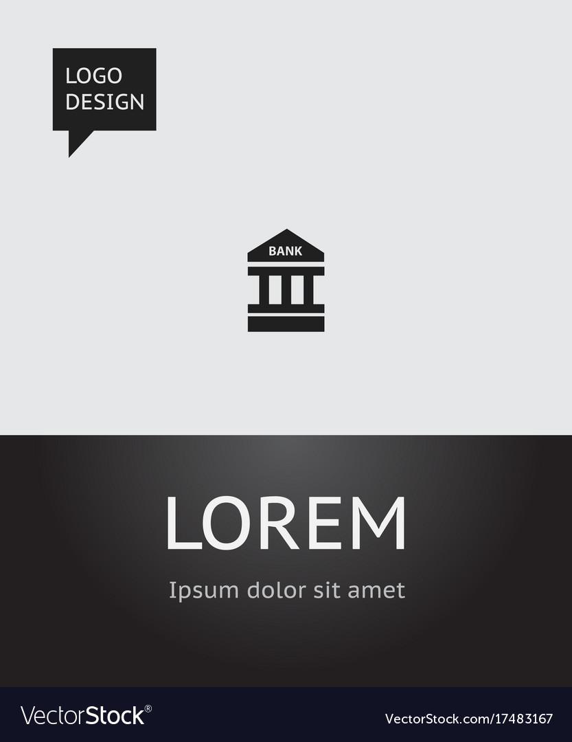 Of banking symbol on bank icon