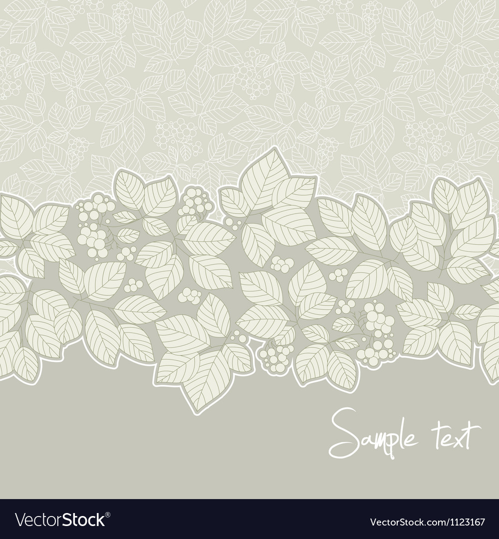 Ornamental floral pattern with place for your text
