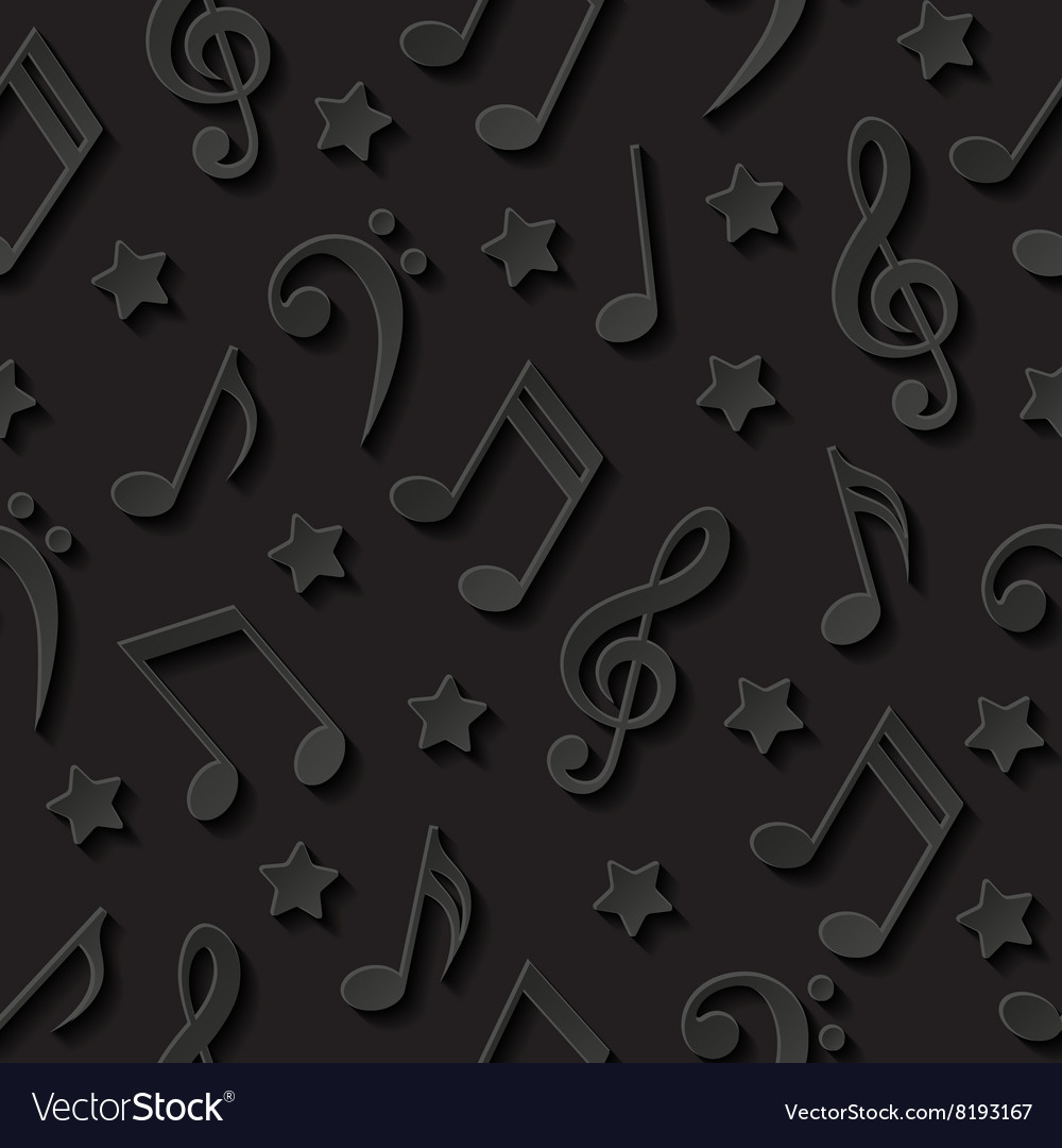 Seamless background with musical notes