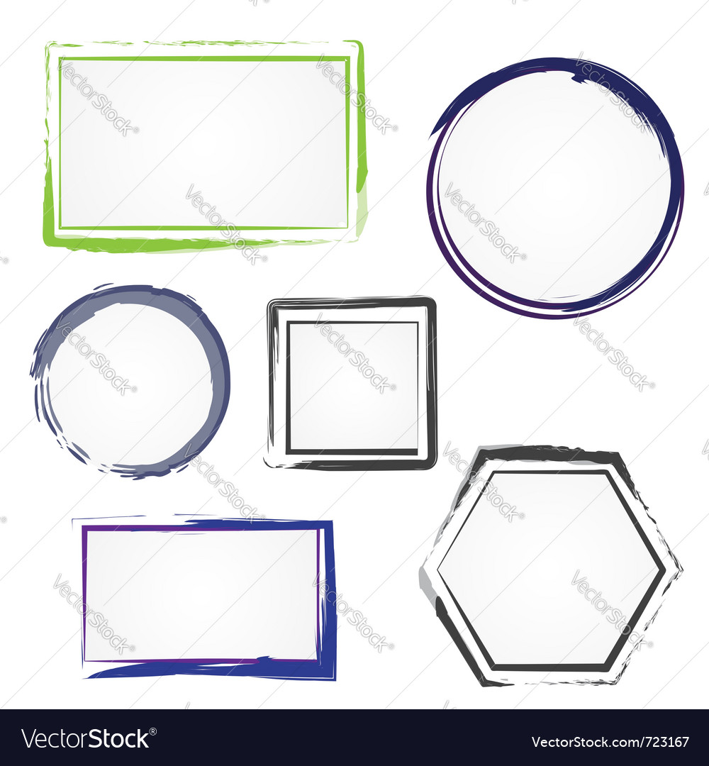 Set of painted frames vector image