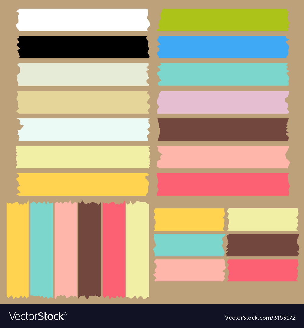 Color masking tape set vector image