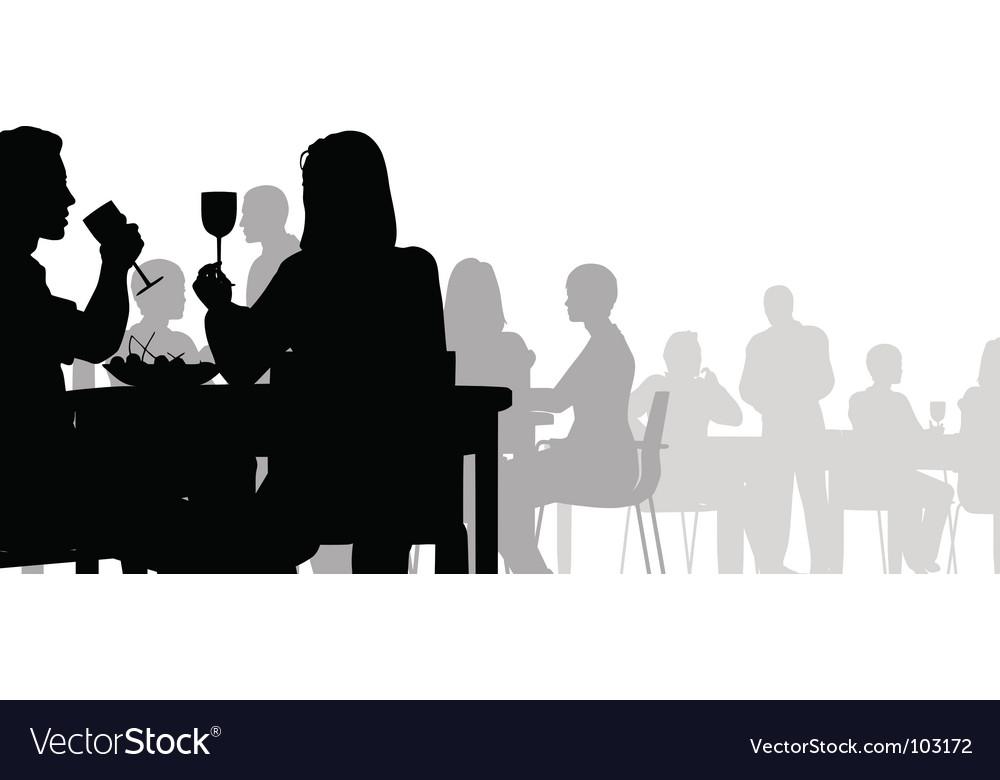 Diner vector image