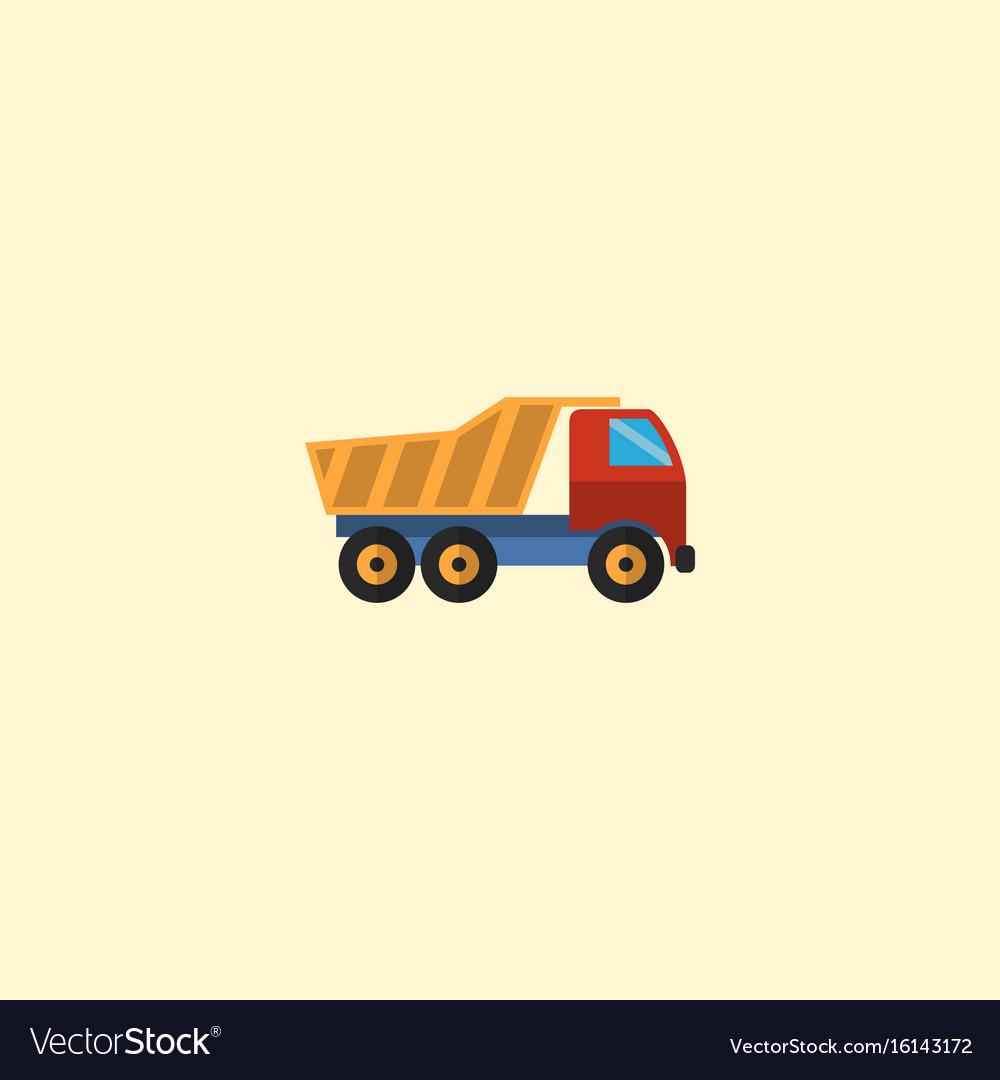 Flat icon dumper truck element