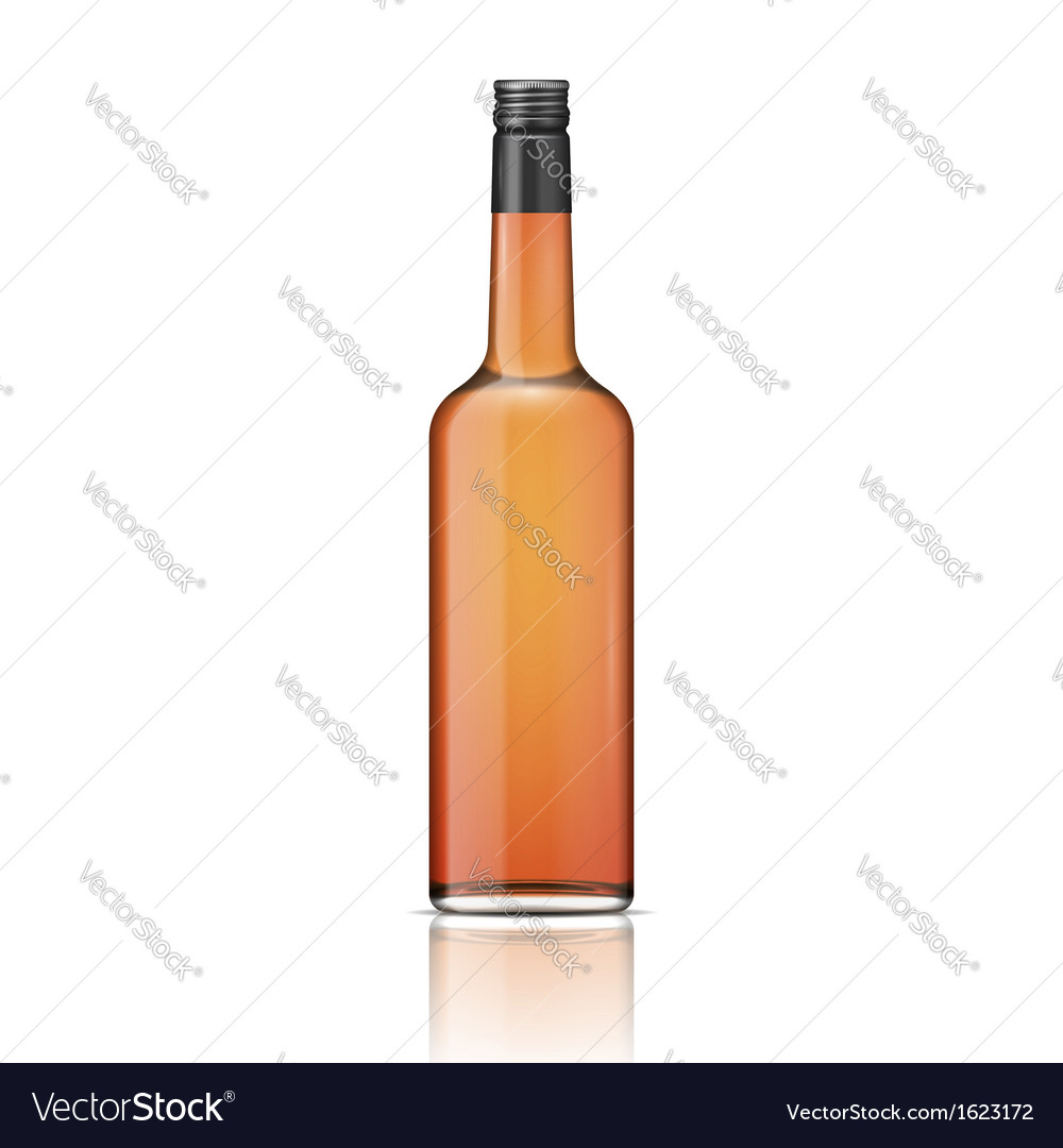 Glass whiskey bottle with screw cap