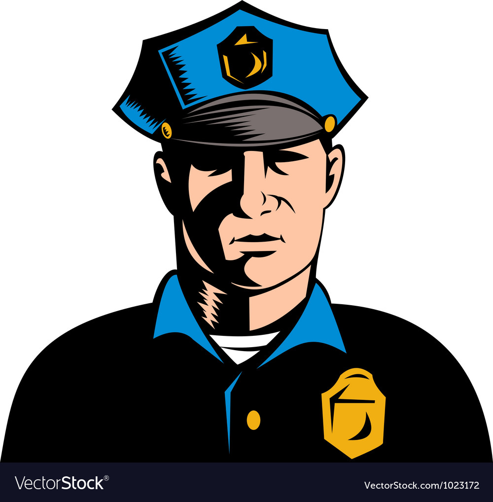 policeman police officer royalty free vector image rh vectorstock com police vector logo police vector logo