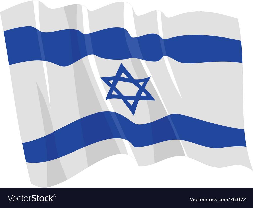 Political waving flag of israel
